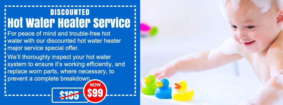hot water system service hills district